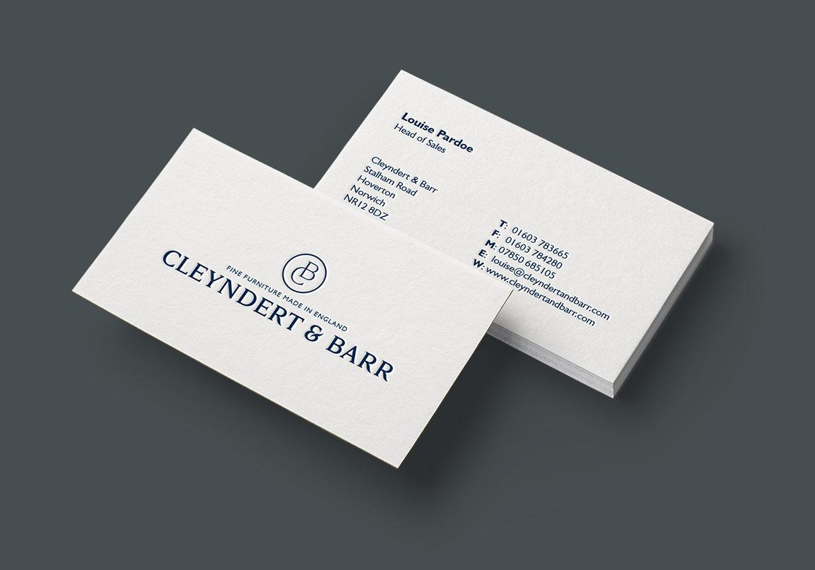 Cleyndert & Barr website by Doublard Design