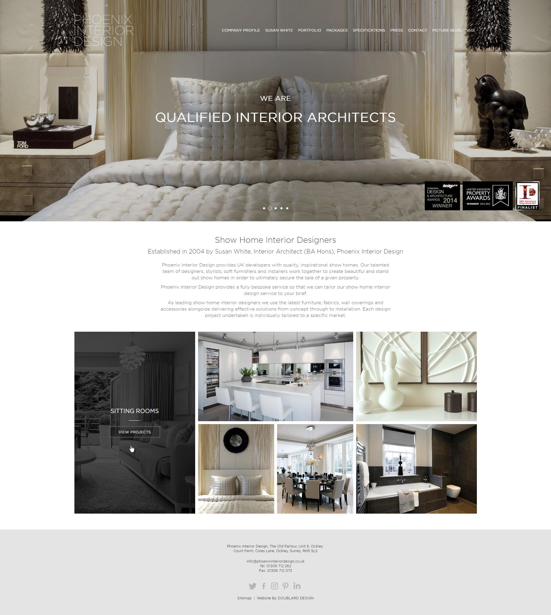 Phoenix Interior Design Website By Doublard