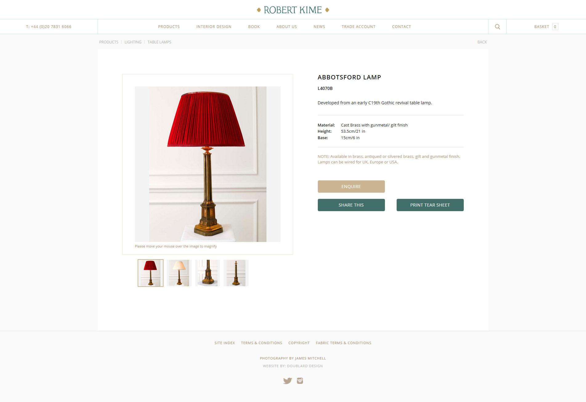 Robert Kime - Table Lamp Detail