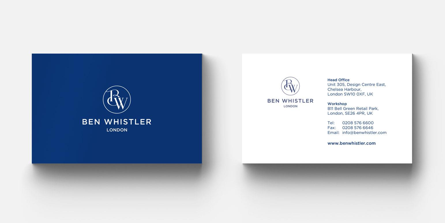 Ben Whistler Business Card
